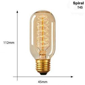 Ampoule Edison spirale