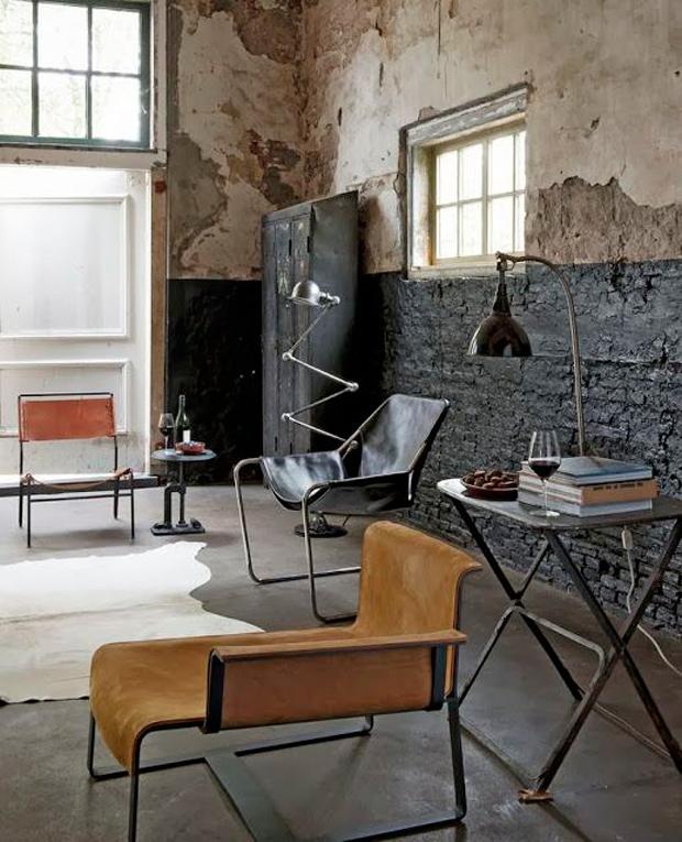 clés pour décorer des lampes de fauteuils de style industriel